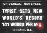 Image of Albert Tangora typing 141 words per minute Chicago Illinois USA, 1937, second 6 stock footage video 65675058989
