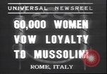 Image of Benito Mussolini Rome Italy, 1937, second 1 stock footage video 65675058990