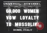 Image of Benito Mussolini Rome Italy, 1937, second 2 stock footage video 65675058990