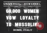 Image of Benito Mussolini Rome Italy, 1937, second 3 stock footage video 65675058990