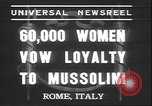 Image of Benito Mussolini Rome Italy, 1937, second 4 stock footage video 65675058990
