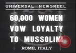 Image of Benito Mussolini Rome Italy, 1937, second 6 stock footage video 65675058990