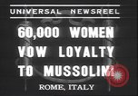 Image of Benito Mussolini Rome Italy, 1937, second 7 stock footage video 65675058990