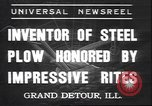 Image of steel plow Grand Detour Illinois USA, 1937, second 1 stock footage video 65675058992