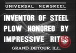 Image of steel plow Grand Detour Illinois USA, 1937, second 4 stock footage video 65675058992