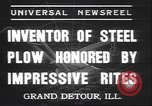 Image of steel plow Grand Detour Illinois USA, 1937, second 5 stock footage video 65675058992