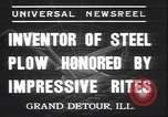 Image of steel plow Grand Detour Illinois USA, 1937, second 6 stock footage video 65675058992