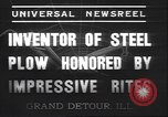 Image of steel plow Grand Detour Illinois USA, 1937, second 7 stock footage video 65675058992