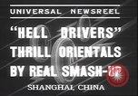 Image of stunt show Shanghai China, 1937, second 7 stock footage video 65675058993