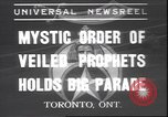Image of Mystic Order of Veiled Prophets Toronto Ontario Canada, 1937, second 1 stock footage video 65675058997