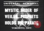 Image of Mystic Order of Veiled Prophets Toronto Ontario Canada, 1937, second 2 stock footage video 65675058997