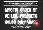 Image of Mystic Order of Veiled Prophets Toronto Ontario Canada, 1937, second 3 stock footage video 65675058997