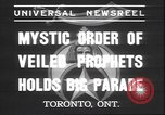 Image of Mystic Order of Veiled Prophets Toronto Ontario Canada, 1937, second 5 stock footage video 65675058997