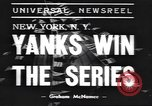 Image of New York Yankees New York United States USA, 1938, second 5 stock footage video 65675058999