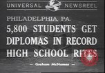 Image of graduation ceremony Philadelphia Pennsylvania USA, 1940, second 1 stock footage video 65675059022