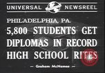 Image of graduation ceremony Philadelphia Pennsylvania USA, 1940, second 5 stock footage video 65675059022
