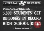 Image of graduation ceremony Philadelphia Pennsylvania USA, 1940, second 6 stock footage video 65675059022