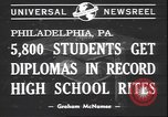 Image of graduation ceremony Philadelphia Pennsylvania USA, 1940, second 7 stock footage video 65675059022