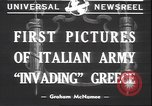 Image of Italian troops Greece, 1940, second 3 stock footage video 65675059023