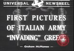 Image of Italian troops Greece, 1940, second 6 stock footage video 65675059023