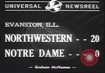 Image of football game Evanston Illinois USA, 1940, second 2 stock footage video 65675059026