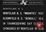 Image of football game Montclair New Jersey USA, 1940, second 2 stock footage video 65675059028
