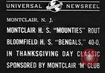 Image of football game Montclair New Jersey USA, 1940, second 3 stock footage video 65675059028