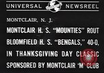Image of football game Montclair New Jersey USA, 1940, second 4 stock footage video 65675059028