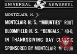 Image of football game Montclair New Jersey USA, 1940, second 5 stock footage video 65675059028