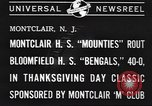 Image of football game Montclair New Jersey USA, 1940, second 6 stock footage video 65675059028