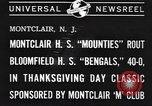 Image of football game Montclair New Jersey USA, 1940, second 8 stock footage video 65675059028