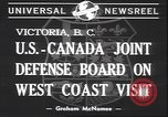 Image of joint defense board Victoria Canada, 1940, second 5 stock footage video 65675059030