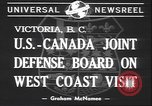 Image of joint defense board Victoria Canada, 1940, second 6 stock footage video 65675059030