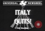 Image of Italian surrender Italy, 1943, second 2 stock footage video 65675059041