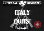 Image of Italian surrender Italy, 1943, second 3 stock footage video 65675059041