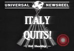 Image of Italian surrender Italy, 1943, second 4 stock footage video 65675059041