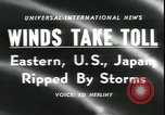 Image of Hurricane Helene United States USA, 1958, second 4 stock footage video 65675059103
