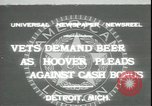 Image of Herbert Hoover Detroit Michigan USA, 1931, second 1 stock footage video 65675059115