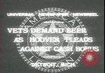 Image of Herbert Hoover Detroit Michigan USA, 1931, second 2 stock footage video 65675059115