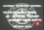 Image of Herbert Hoover Detroit Michigan USA, 1931, second 3 stock footage video 65675059115