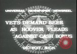 Image of Herbert Hoover Detroit Michigan USA, 1931, second 4 stock footage video 65675059115