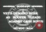 Image of Herbert Hoover Detroit Michigan USA, 1931, second 5 stock footage video 65675059115