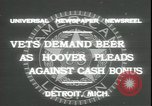 Image of Herbert Hoover Detroit Michigan USA, 1931, second 7 stock footage video 65675059115