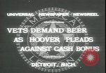 Image of Herbert Hoover Detroit Michigan USA, 1931, second 8 stock footage video 65675059115