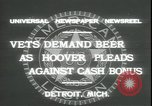 Image of Herbert Hoover Detroit Michigan USA, 1931, second 9 stock footage video 65675059115