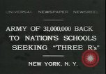 Image of schools reopen New York United States USA, 1931, second 1 stock footage video 65675059116
