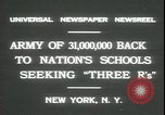 Image of schools reopen New York United States USA, 1931, second 2 stock footage video 65675059116