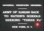Image of schools reopen New York United States USA, 1931, second 3 stock footage video 65675059116