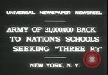 Image of schools reopen New York United States USA, 1931, second 9 stock footage video 65675059116