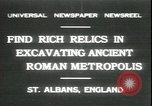 Image of archaeologists Saint Albans England, 1931, second 1 stock footage video 65675059119